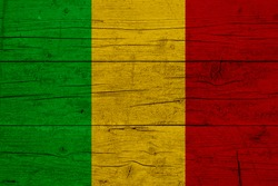 Flag of Mali. Wooden texture of the flag of Mali.