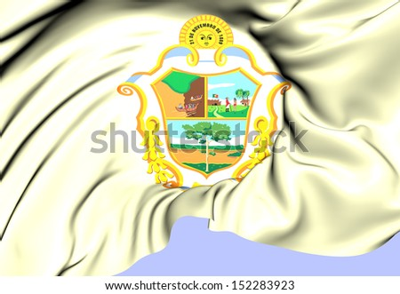 Flag of Manaus, Brazil. Close Up.