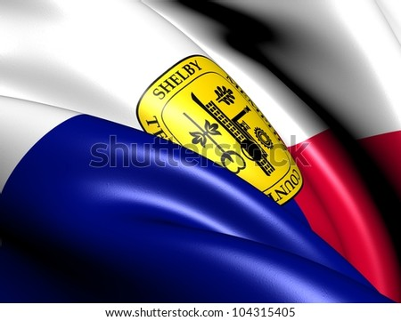Flag of Memphis, USA. Close Up. - stock photo