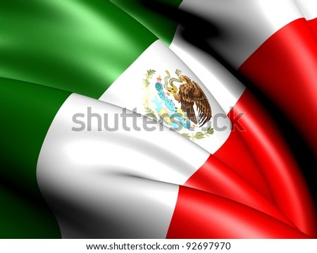 Flag of Mexico. Close up.