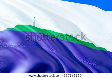 Flag of Navassa island. 3D Waving flag design. Emblem of Navassa island and Oceania, 3D rendering. National colors of Navassa island 3D Waving USA state flags background concept. 3D ribbon,HD wallpape