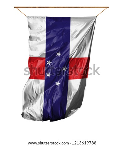Flag of Netherlands Antilles. Isolated on a white background. Сток-фото ©