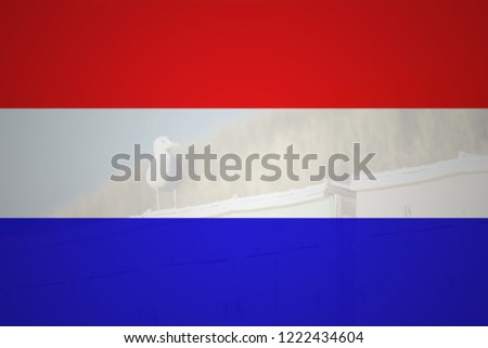 Flag of Netherlands in minimalistic design and high quality #1222434604