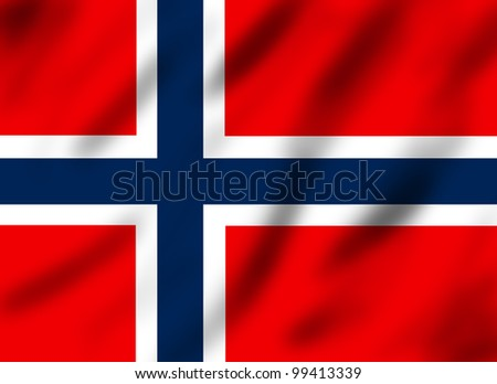 Flag of Norway, 3d illustration