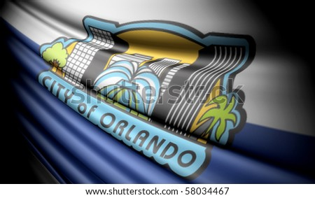 Flag of Orlando, Florida (USA) - stock photo