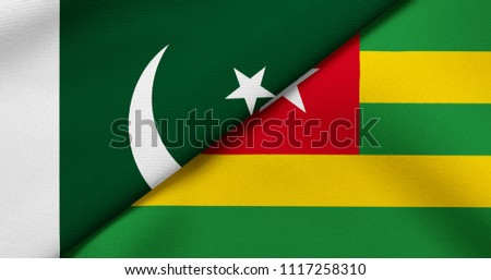 Flag of Pakistan and Togo #1117258310