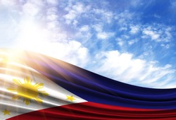 flag of Philippines in the sun