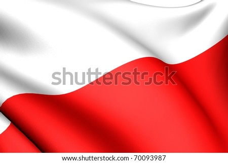 Flag of Poland. Close up.