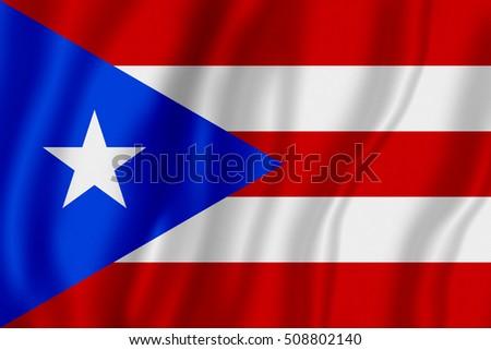 Flag of Puerto Rico (?ommonwealth of Puerto Rico)  Stock photo ©
