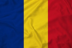 Flag of Romania with texture