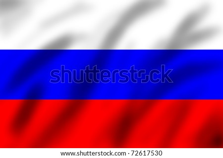 Flag of Russian federation, 3d illustration