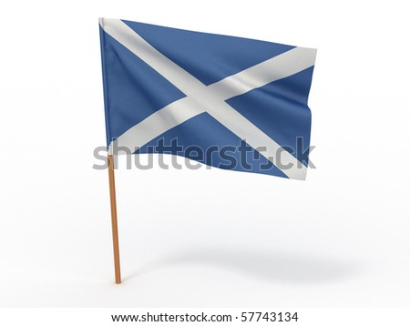 Flag of scotland . 3d