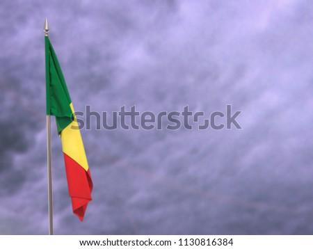 Flag of Senegal hanging down dangling #1130816384