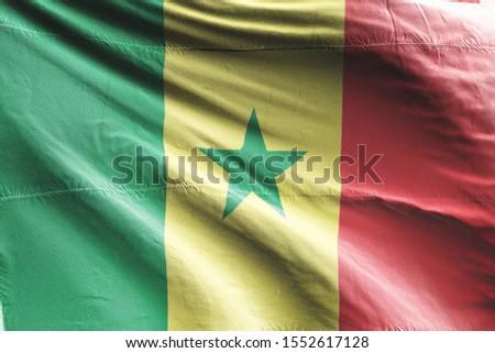 Flag of Senegal waving. National Senegal Flag for Independence day. #1552617128
