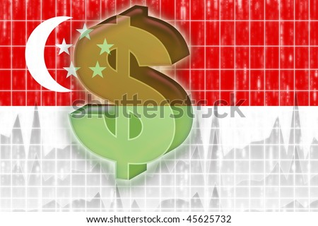 Singapore National Flag Picture on Stock Photo   Flag Of Singapore  National Country Symbol Illustration
