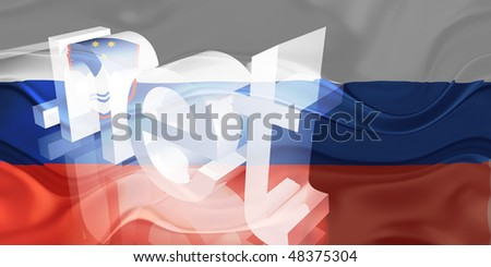 Flag of Slovenia, national country symbol illustration wavy net domain website