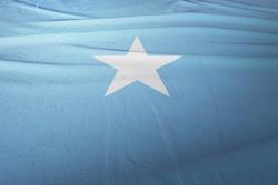 Flag of Somalia cloth fabric. National Flag of Somalia for Independence day.