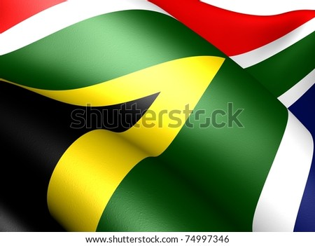 Flag of South Africa.