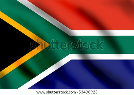 Flag of South Africa, illustration