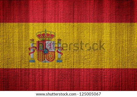 Flag Of Spain towel texture as a background