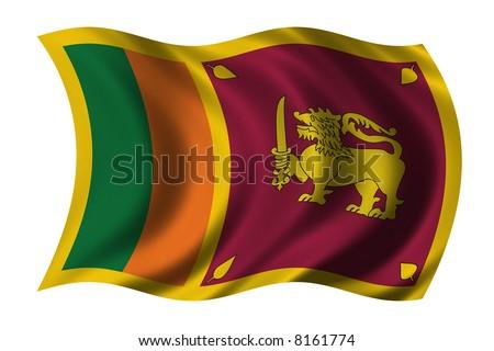 Sri Lankan Flag. stock photo : Flag of Sri