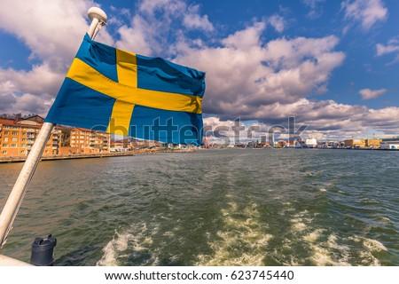 flag of sweden in gothenburg ...