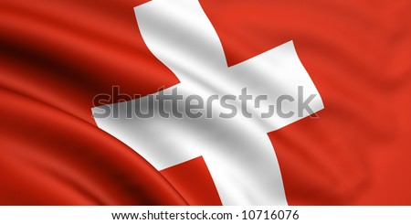 Flag Of Switzerland - stock photo
