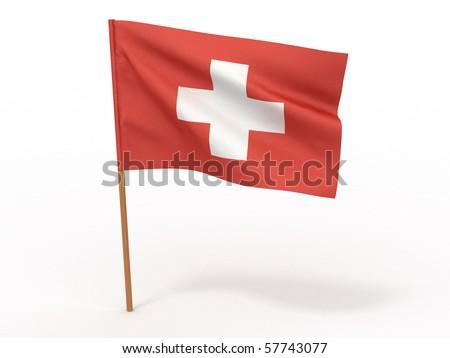 Flag of switzerland . 3d - stock photo