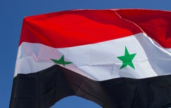 Flag of Syria in the wind