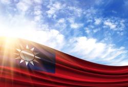 flag of Taiwan in the sun