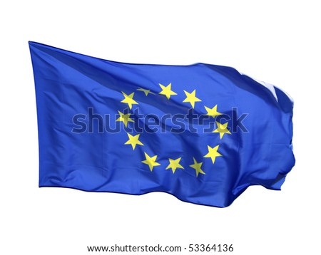 Flag of the EU, isolated on white background