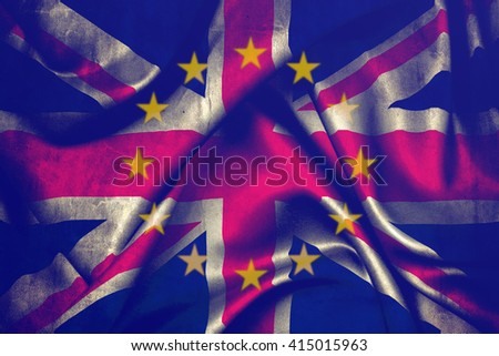 Flag of the European Union and Great Britain merged #415015963