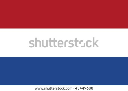 flag of the Netherlands - isolated illustration