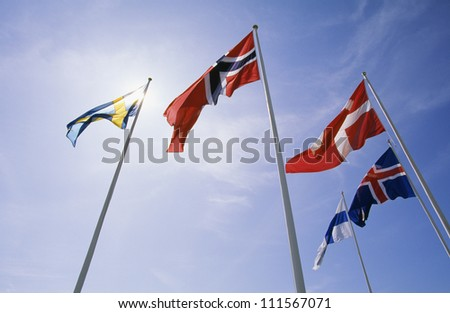 Flag of the Nordic countries in Europe