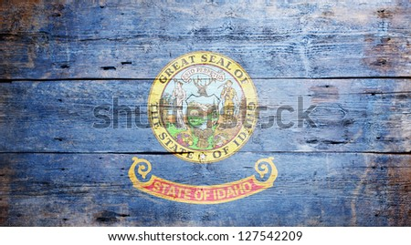 flag of the state of idaho...