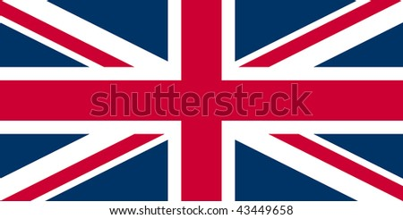 flag of the UK - Union Jack - isolated illustration