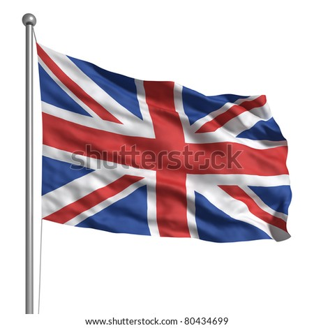 Flag of the United Kingdom (Isolated)