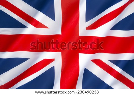 Flag of the United Kingdom of Great Britain and Northern Ireland - Also known as the Union Jack or Union Flag. #230490238