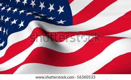 Flag of the United States of America render