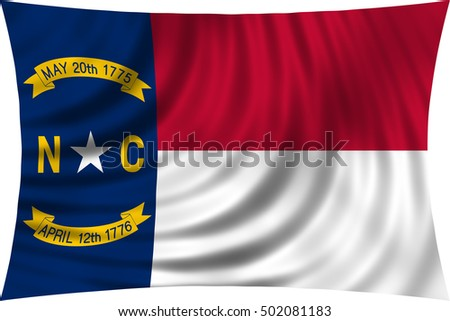Flag Of The Us State Of North Carolina American Patriotic Element