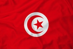 Flag of Tunisia with texture