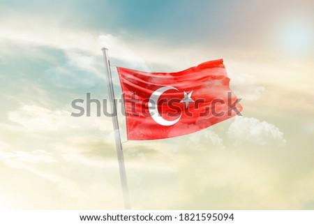 flag of Turkey - 3D render