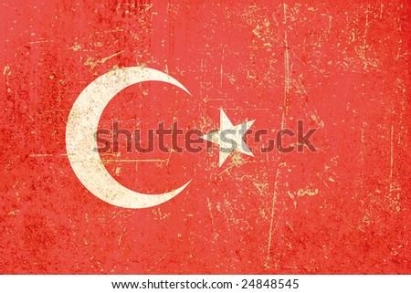 flag of turkey grunge verion