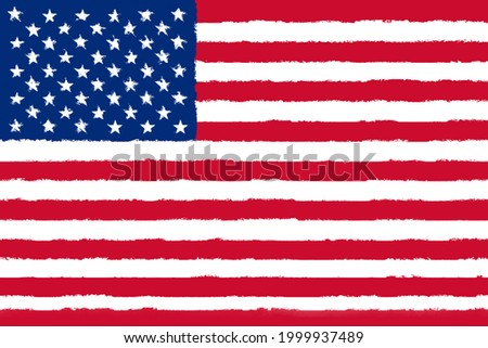 Flag of Uited States of America grunge looking 3D illustration Stockfoto ©