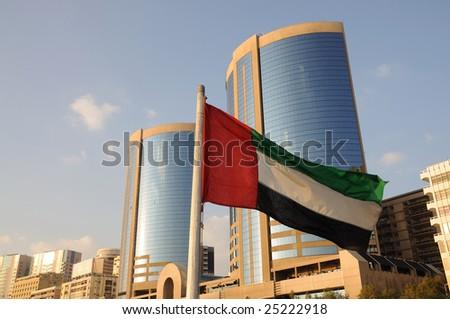 Flag of United Arab Emirates in Dubai