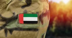 Flag of United Arab Emirates (UAE) on military uniform