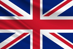 Flag of United Kingdom. Fabric texture of the flag of United Kingdom.