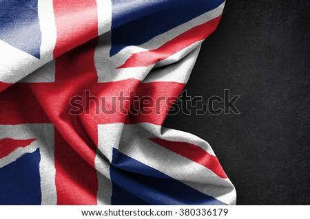Flag of United Kingdom on blackboard background #380336179