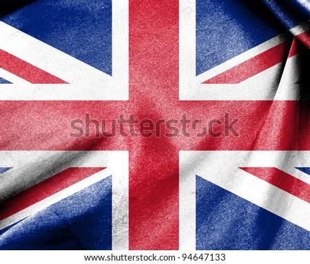 Flag of United Kingdom or Union Jack flag