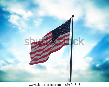Flag of United States of America.